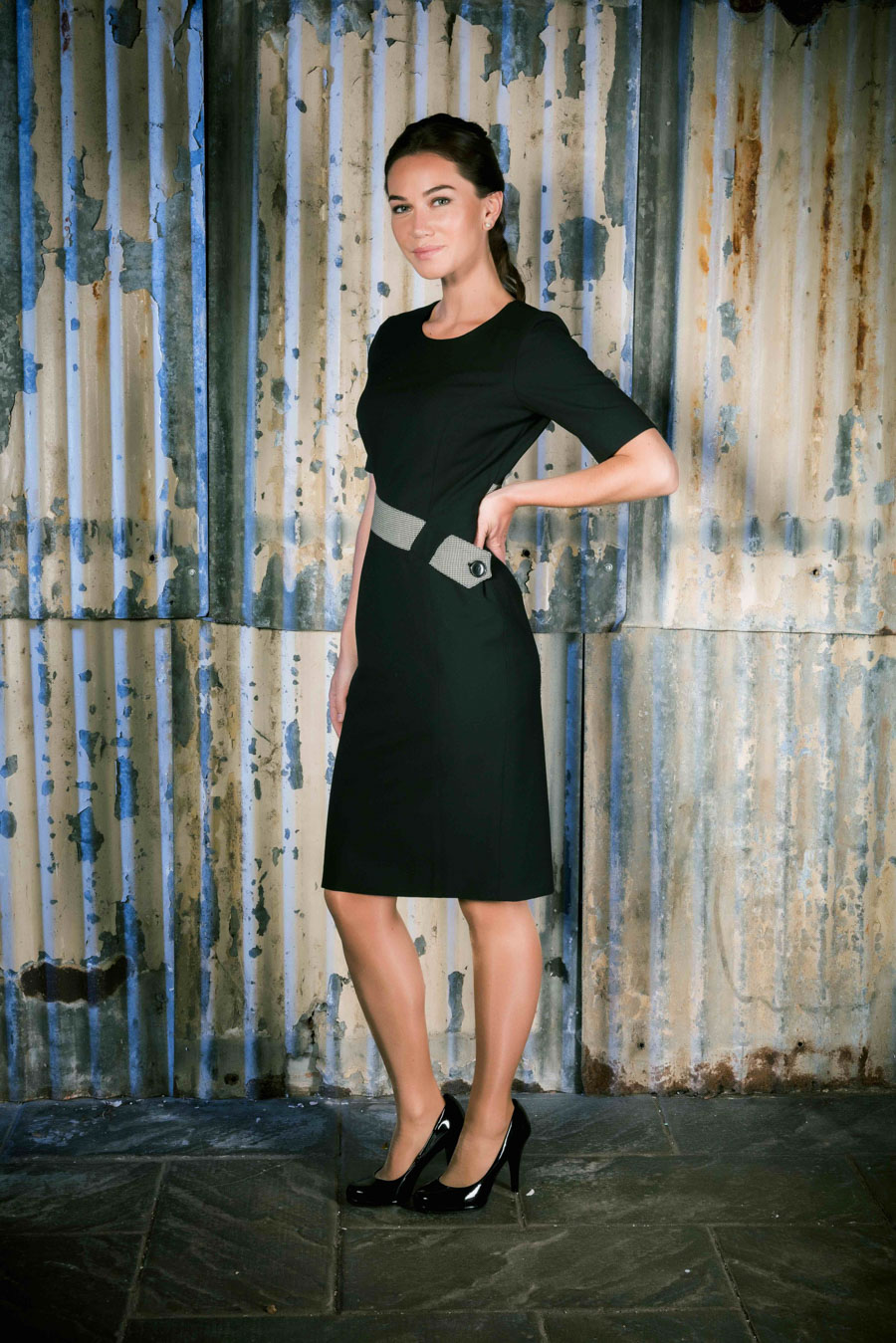 Row 16 _ Female Image No.1 _ Blk Dress & Grey Belt