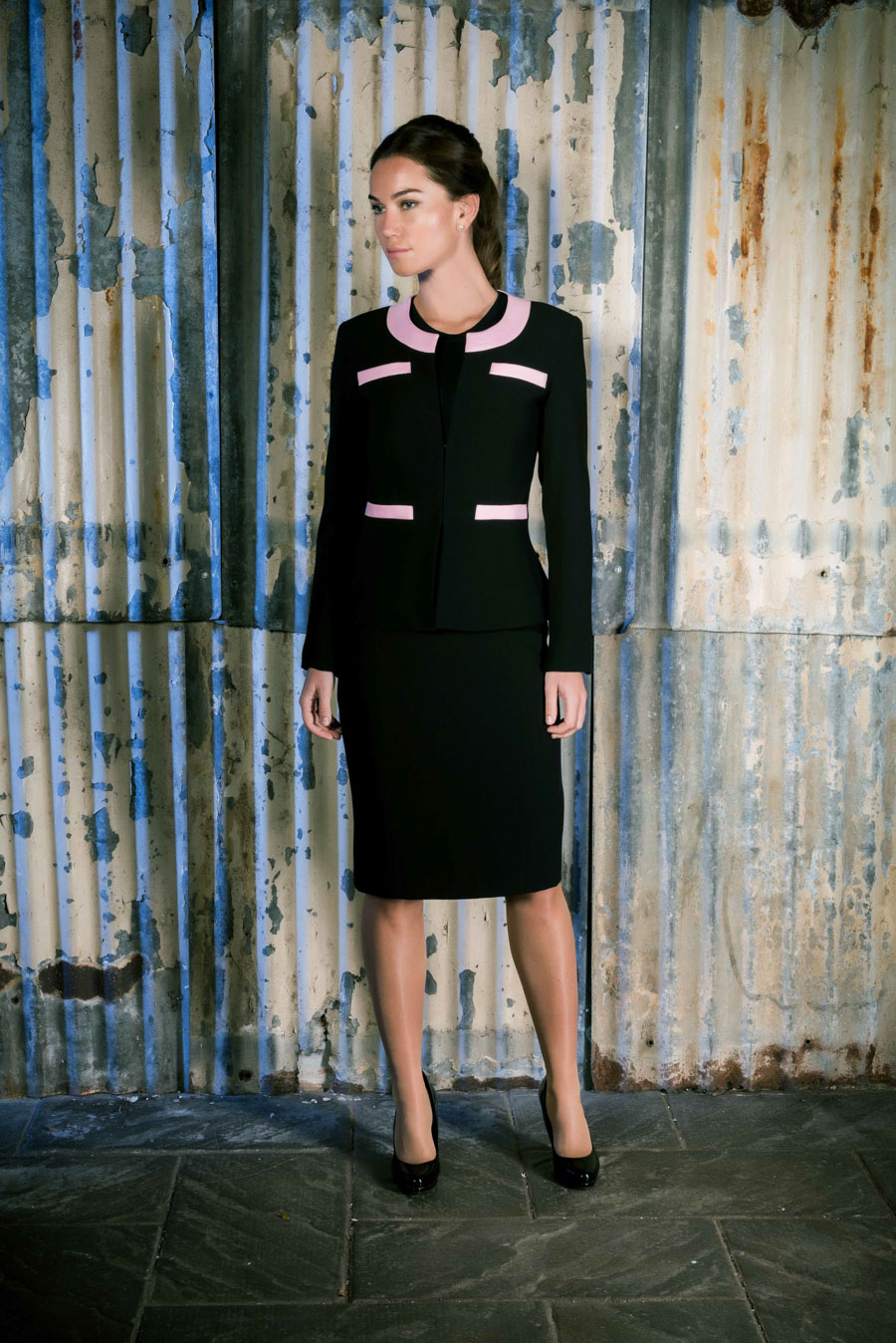 Row 30 _ Female Image No.1 _ Black & Pink Suit
