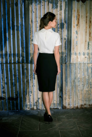 Row 31 _ Female Image No.3 _ White Shirt & Black Skirt